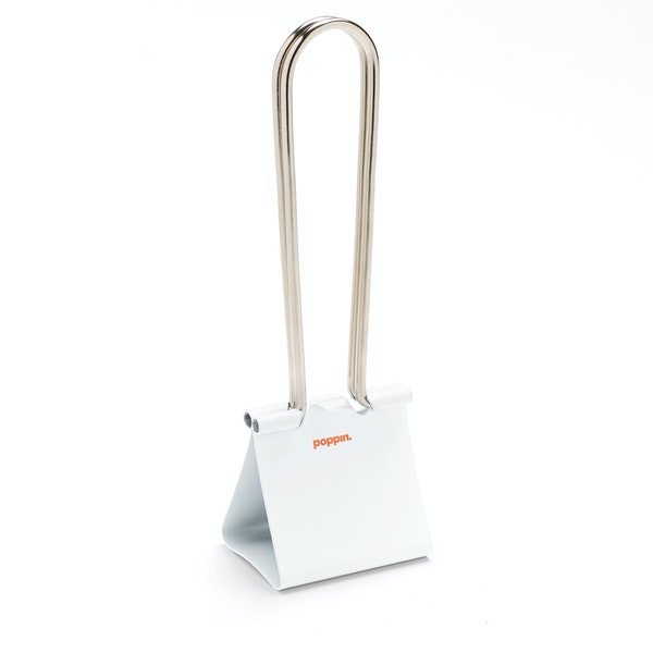 "White XXL 2.5"" Binderclip,White,hi-res"