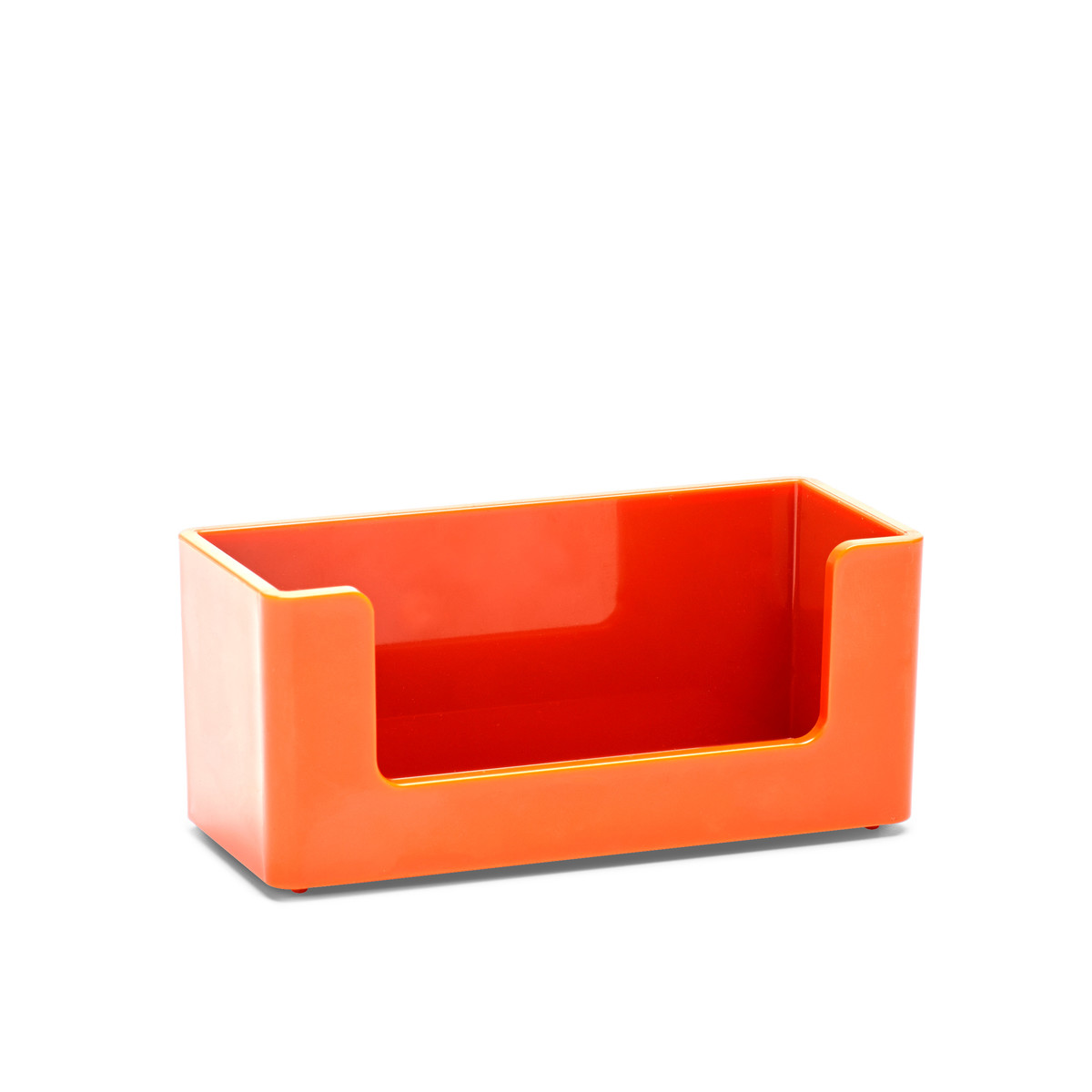 Orange Business Card Holder| Desk Accessories| Poppin