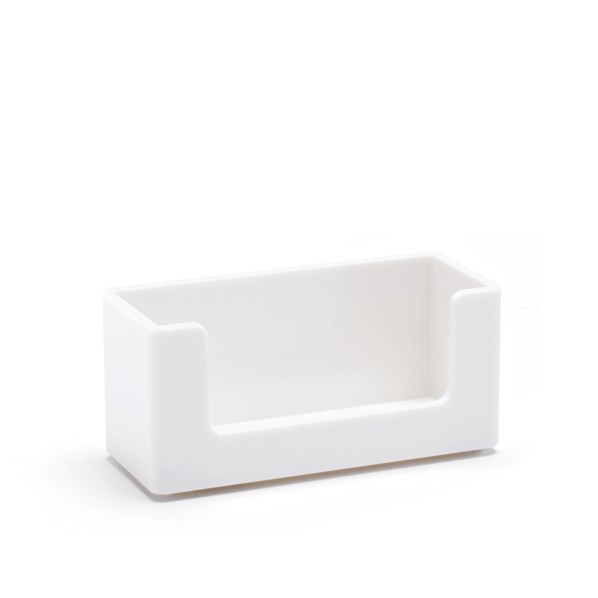 white business card holder desk accessories & organization  poppin