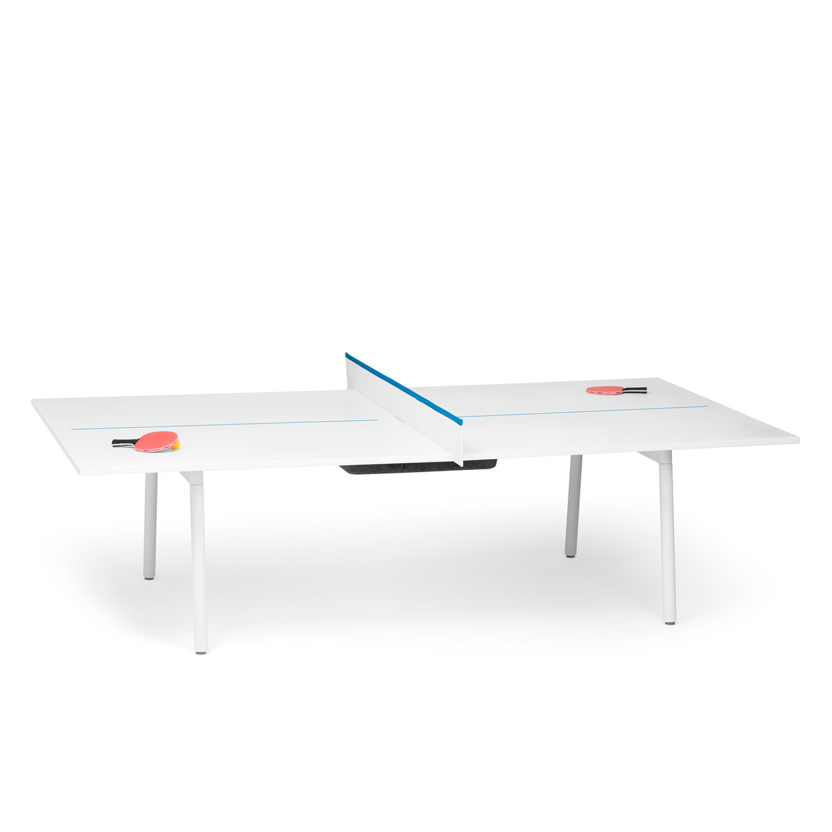 White + Pool Blue Series A Ping Pong Conference Table,Pool Blue,hi