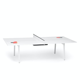 White + Dark Gray Series A Ping-Pong Conference Table