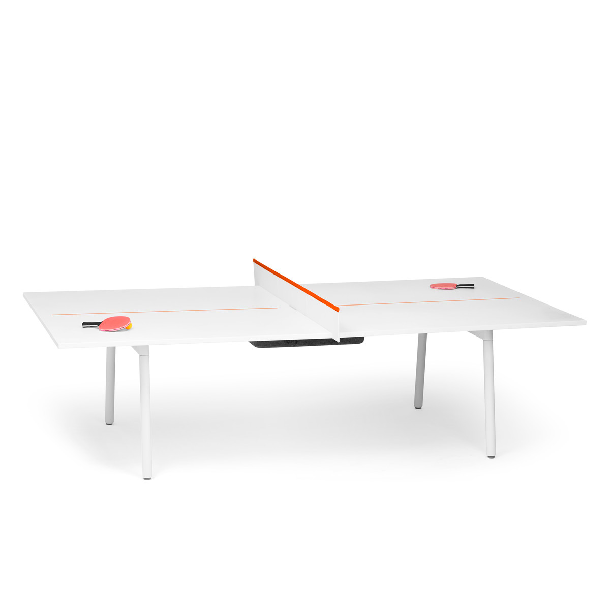 white + orange series a ping-pong conference table | modern office