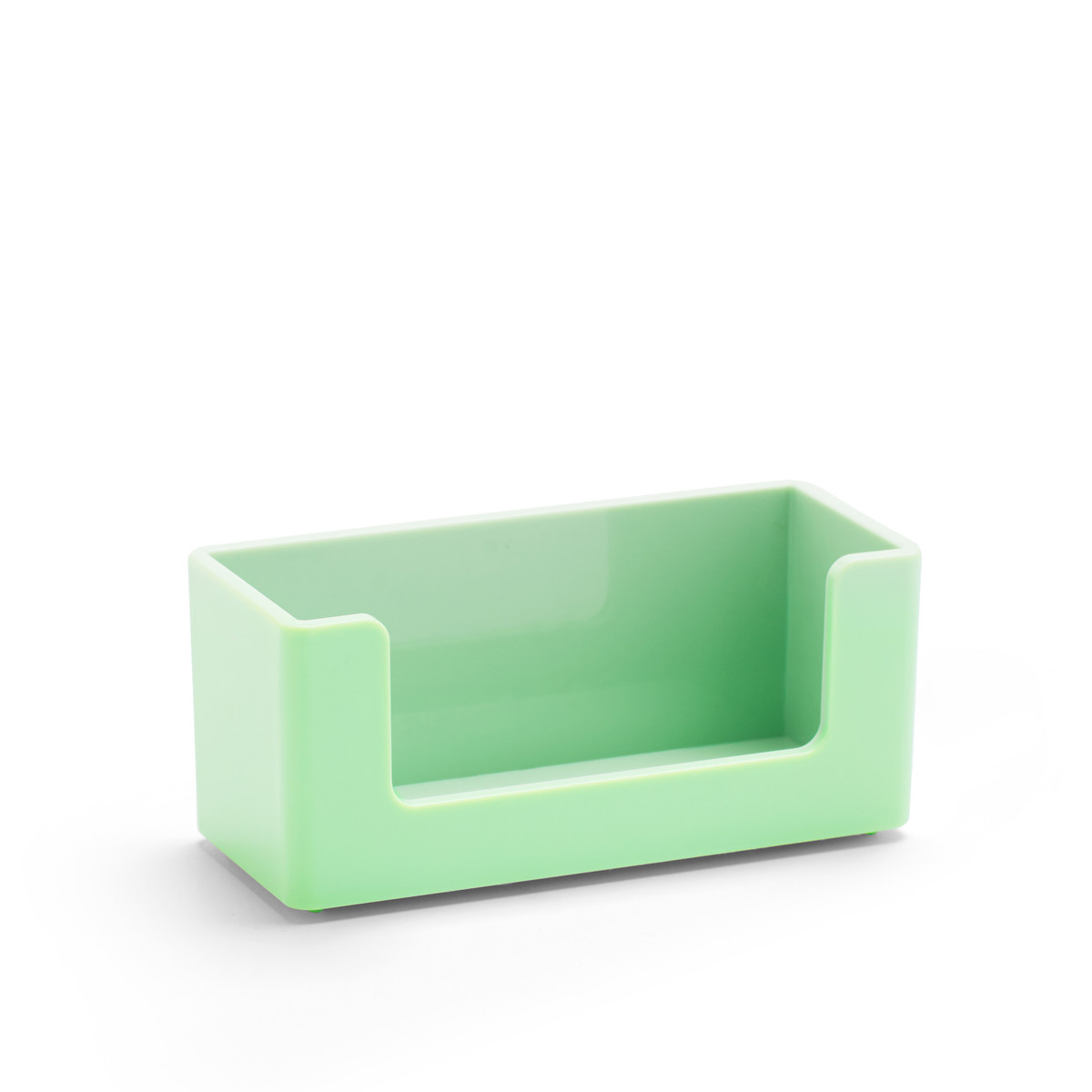 mint business card holder  desk accessories poppin