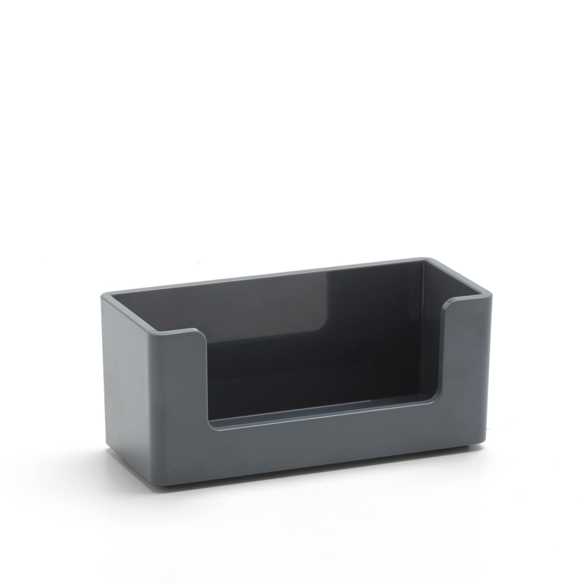 Dark gray business card holder desk accessories poppin dark gray business card holderdark grayhi res colourmoves