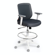 Max Drafting Chair, Mid Back, White Frame,,hi-res