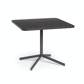"Dark Oak Touchpoint Meeting Table, 36"", Charcoal Legs"
