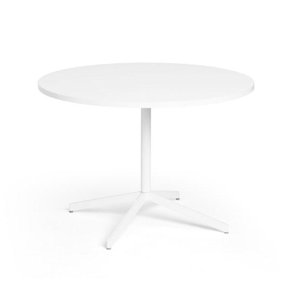 """White Touchpoint Meeting Table, 42"""", White Legs,White,hi-res"""