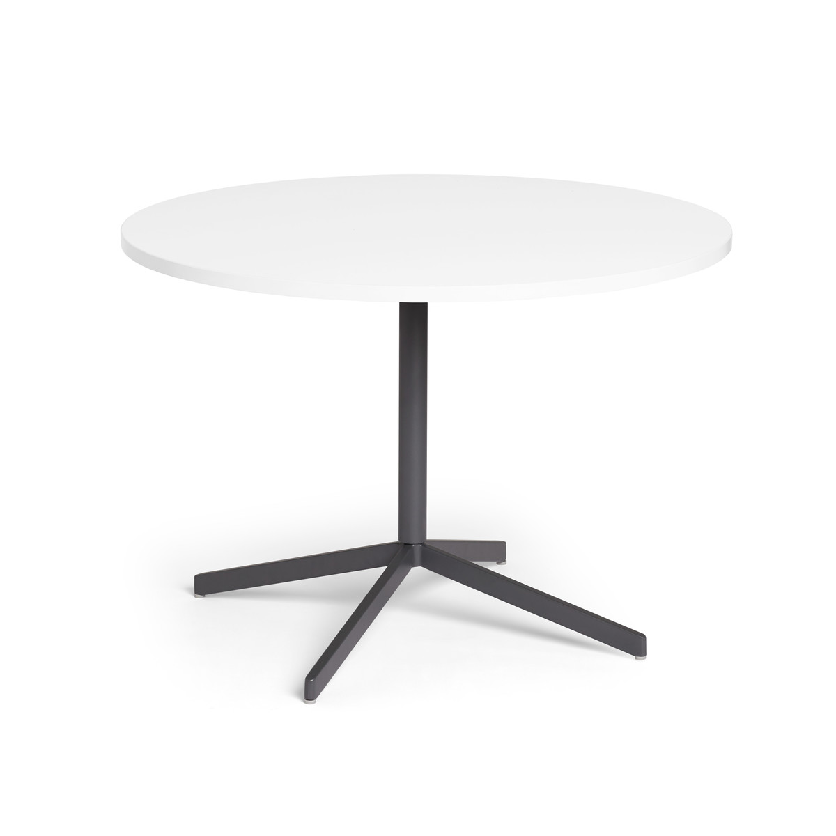 White Touchpoint Table 42 Charcoal Legs Modern Office Furniture Poppin