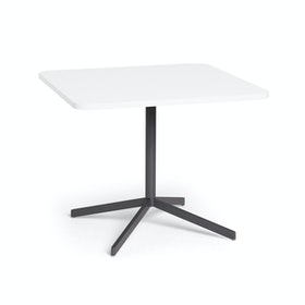 "White Touchpoint Meeting Table, 36"", Charcoal Legs"