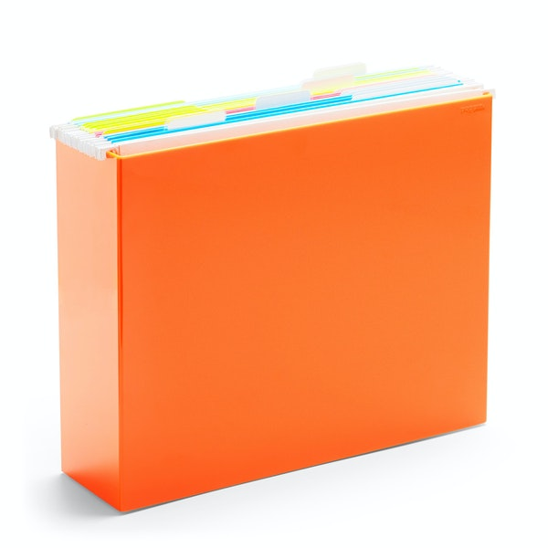 Orange File Box,Orange,hi-res
