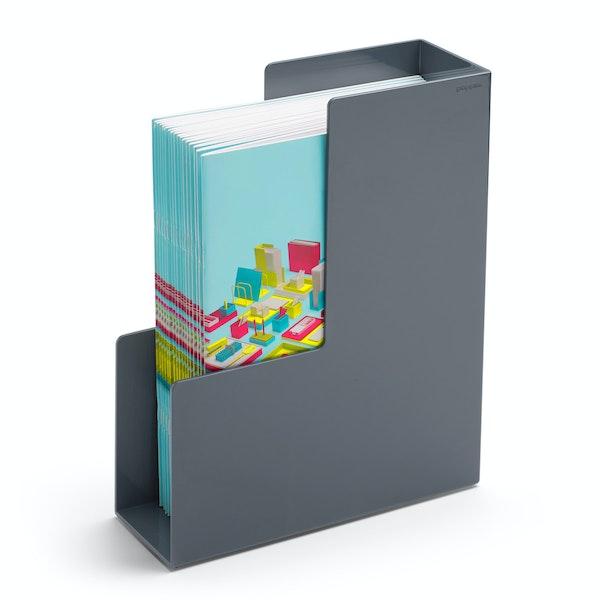 Dark Gray Magazine File Box,Dark Gray,hi-res