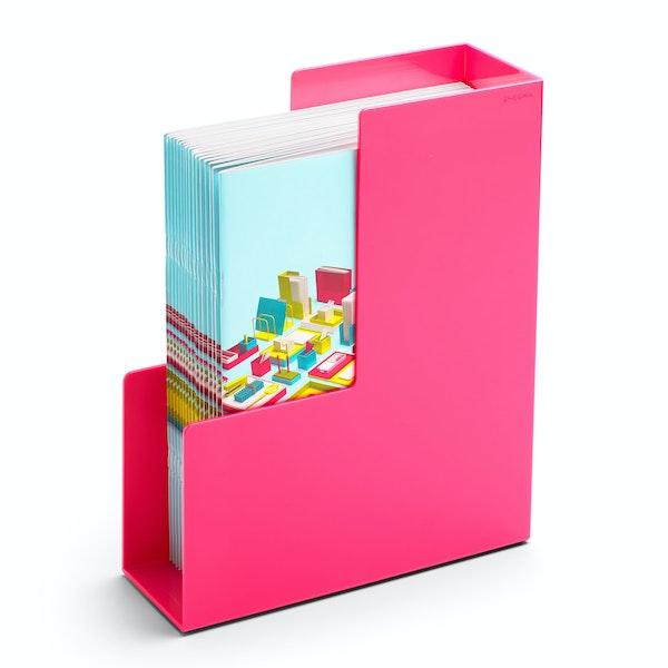 Pink Magazine File Box,Pink,hi-res