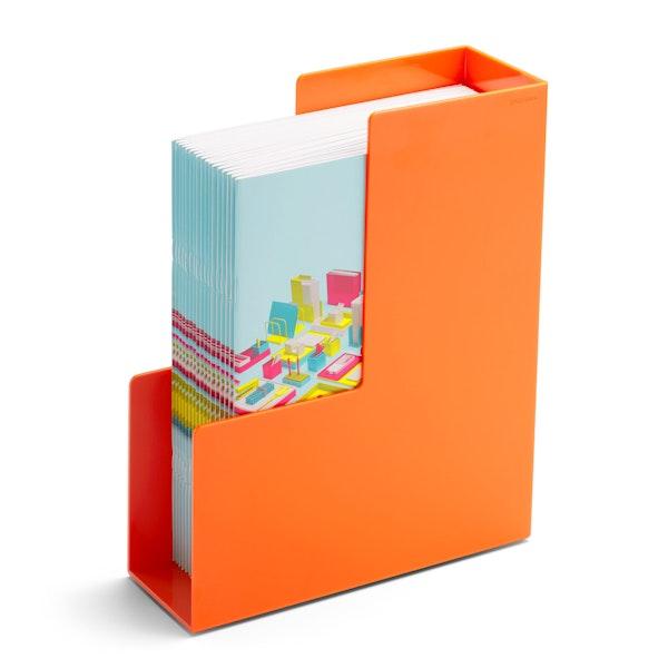 Orange Magazine File Box,Orange,hi-res