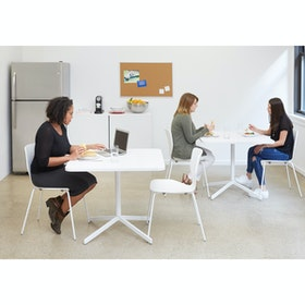 "White Touchpoint Meeting Table, 36"", White Legs"