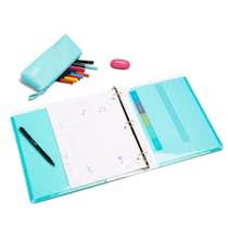 aqua 1 pocket binder desk accessories organization poppin