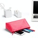 Pink + Aqua Medium Accessory Pouch,Pink,hi-res