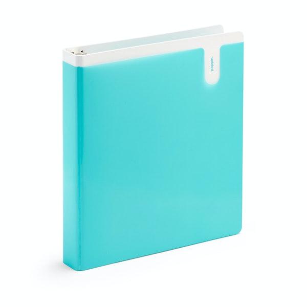 """Aqua 1"""" Pocket Binder,Aqua,hi-res"""