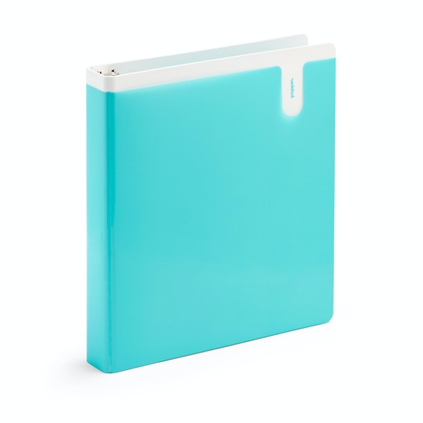 "Aqua 1"" Pocket Binder,Aqua,hi-res"