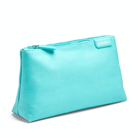 Aqua + Coral Medium Accessory Pouch,Aqua,hi-res