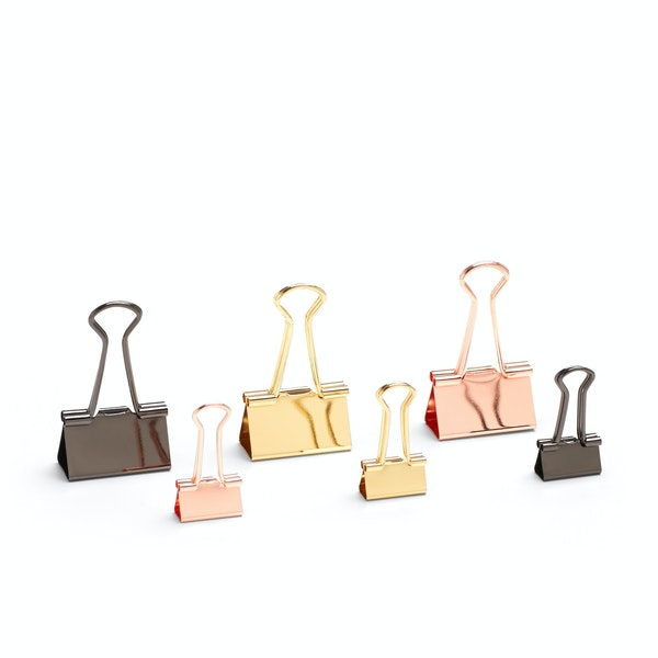 Metallic Assorted Binderclips, Set of 6,,hi-res