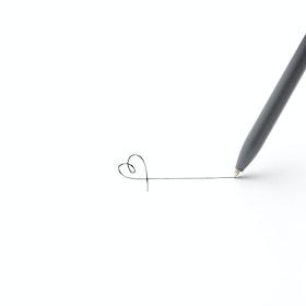Dark Gray + Copper Tip-Top Rollerball Pens w/ Black Ink, Set of 2
