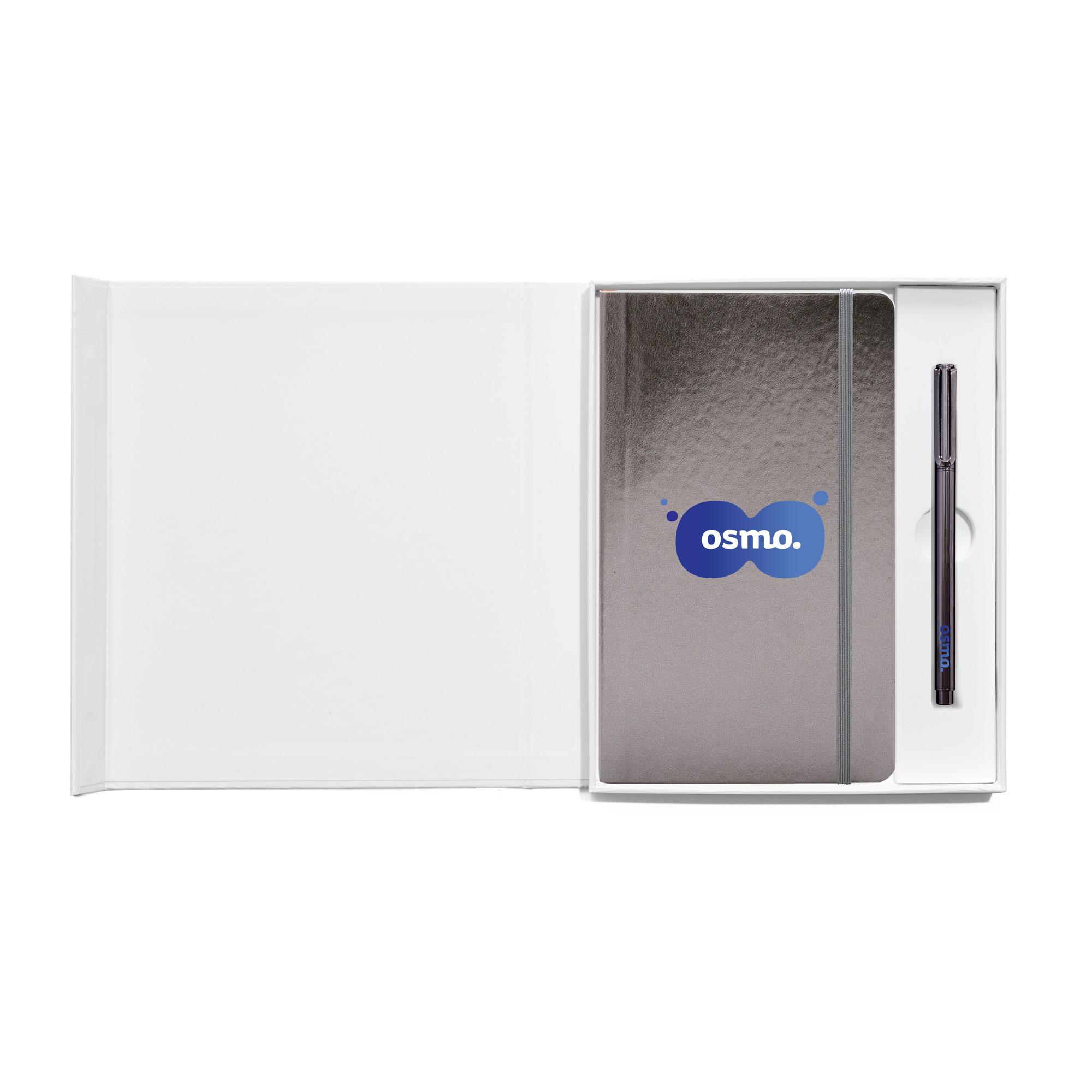 Custom Soft Or Hard Cover Gift Box Set Metal Pen Gift Sets Poppin