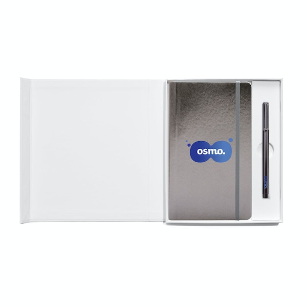 Custom Soft or Hard Cover Gift Box Set, Metal Pen,,hi-res