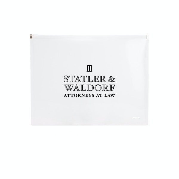 Custom Clear Zip Folios,White,hi-res