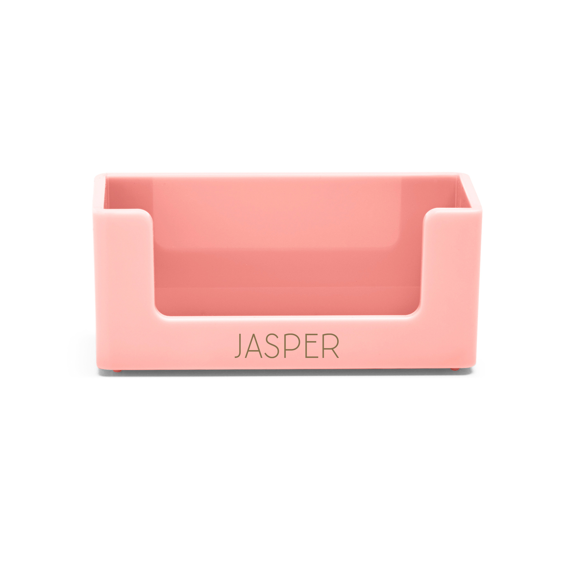 Custom Blush Business Card Holder Hi Res