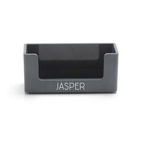 Custom Dark Gray Business Card Holder