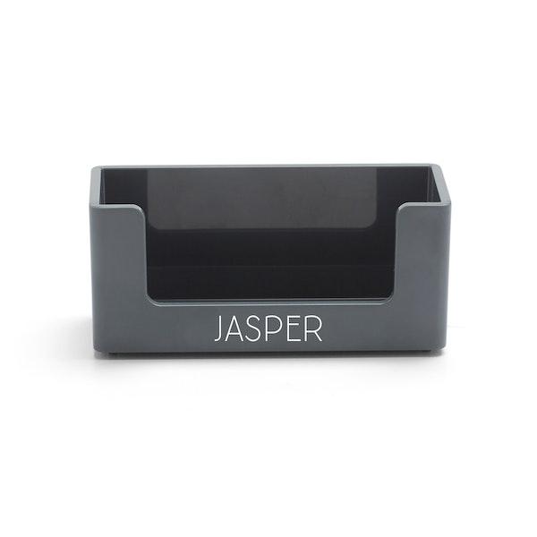 Custom Dark Gray Business Card Holder,Dark Gray,hi-res