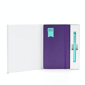 Custom Soft Cover Gift Box Set, Retractable Gel Luxe Pen