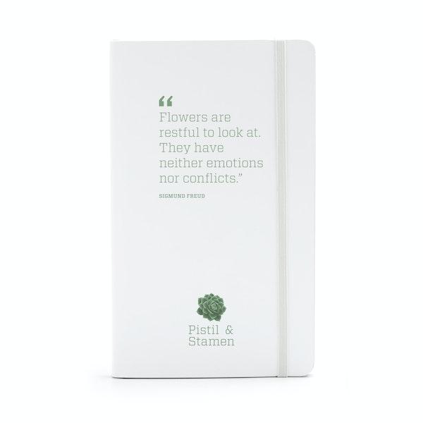 Custom White Medium Hard Cover Notebook,White,hi-res