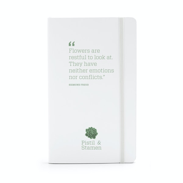 Custom White Medium Hard Cover Notebook,White,hi-res
