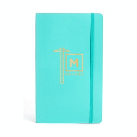 Custom Aqua Medium Soft Cover Notebook,Aqua,hi-res