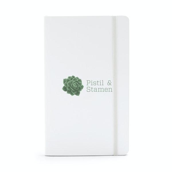 Custom White Medium Soft Cover Notebook,White,hi-res