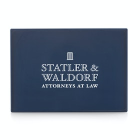 Custom Navy Large Slim Tray