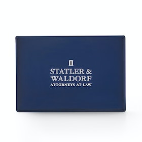 Custom Navy Medium Slim Tray
