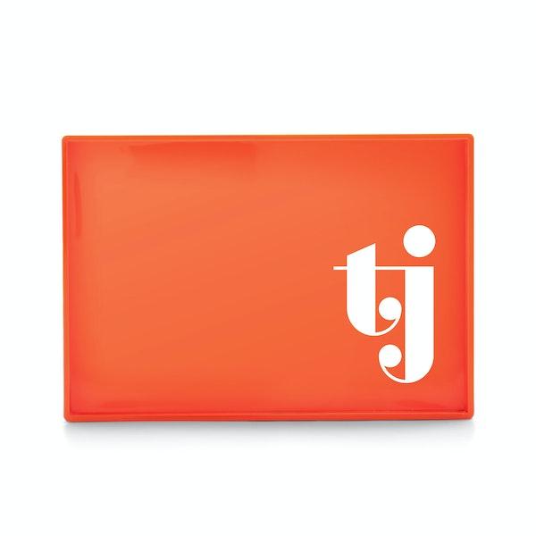 Custom Orange Medium Slim Tray,Orange,hi-res