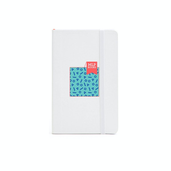 Custom White Small Soft Cover Notebook,White,hi-res