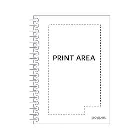 Custom Black Medium Spiral Notebook,Black,hi-res