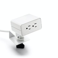 White Omni 2-Power Outlet with Undersurface Mounting Bracket,,hi-res