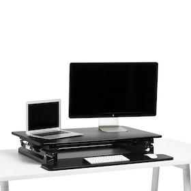 Black Medium Peak Adjustable Height Standing Desk Riser,Black,hi-res
