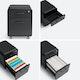Black Mini Stow 2-Drawer File Cabinet, Rolling,Black,hi-res