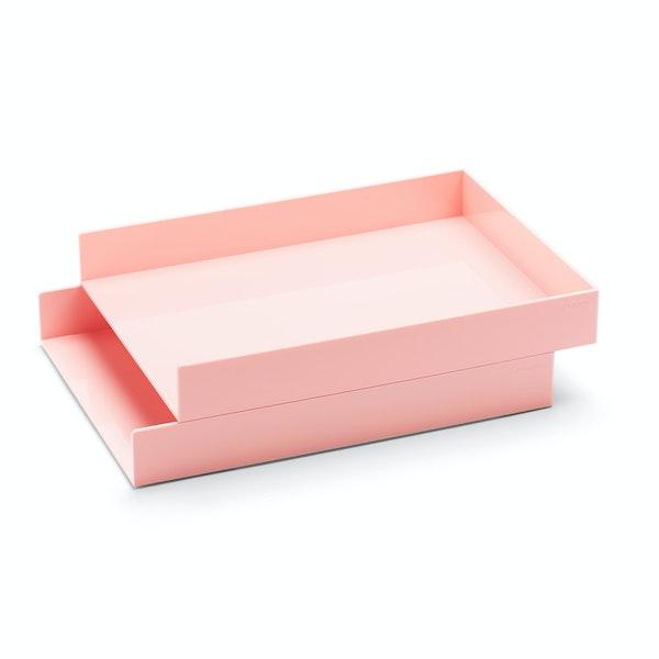 Blush Letter Trays, Set of 2,Blush,hi-res