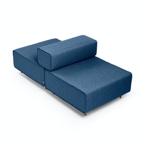 Dark Blue Block Party Lounge Back it Up Chair