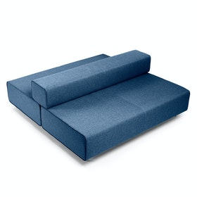 Dark Blue Block Party Lounge Back it Up Sofa