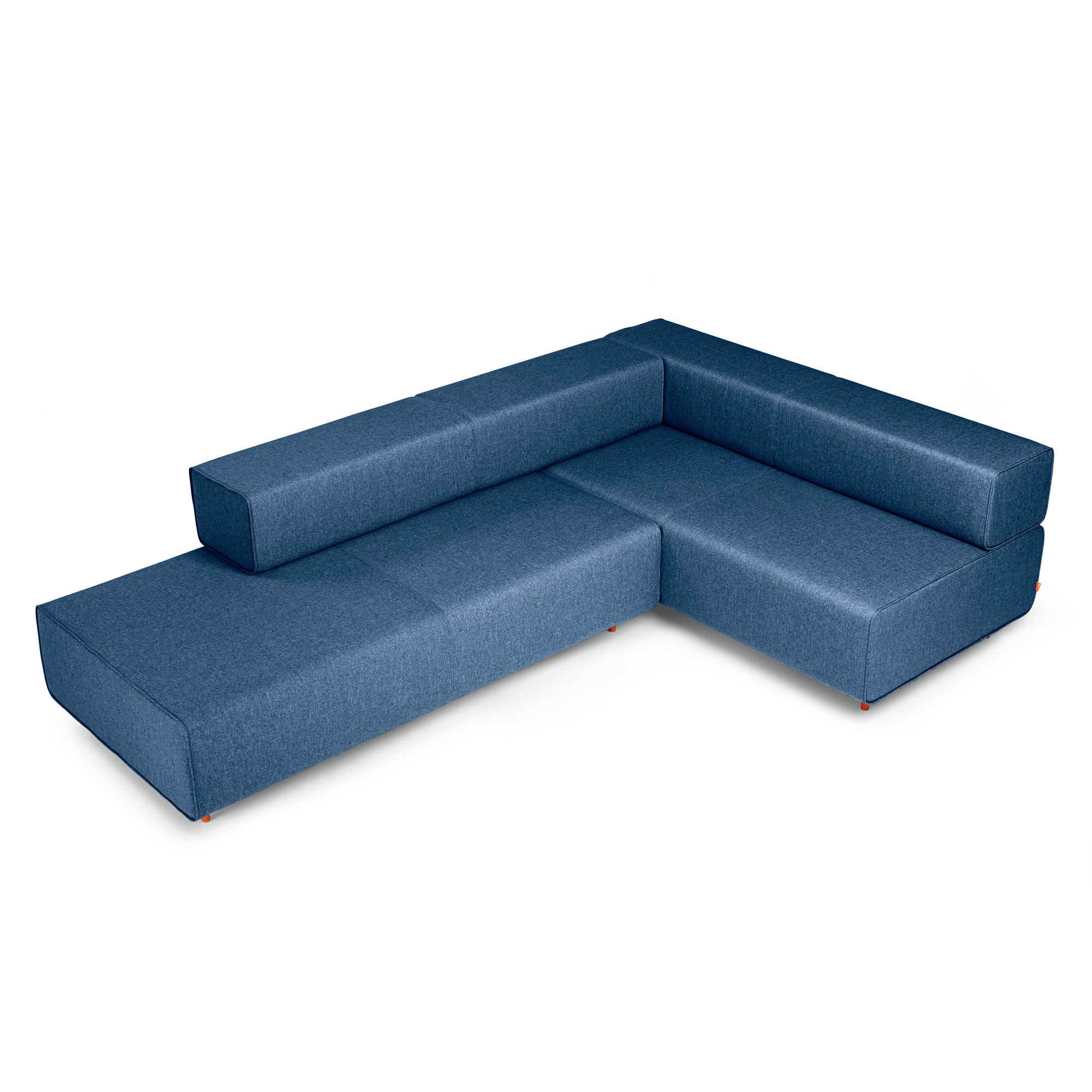 Dark Blue Block Party Lounge Corner Office Sofa Lounge Seating