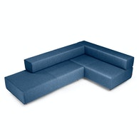 Dark Blue Block Party Lounge Corner Office,Dark Blue,hi-res
