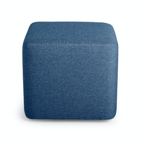 Dark Blue Block Party Lounge Ottoman
